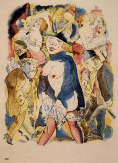 George Grosz, Walzertraum / Waltz dream (1921) | by HEN-Magonza Max Beckmann, Art And Illustration, George Grosz, Degenerate Art, Art Eras, Expressionist Artists, Vintage Artwork, Artist Gallery, Berlin