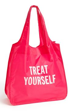 kate spade new york 'treat yourself' reusable shopping tote
