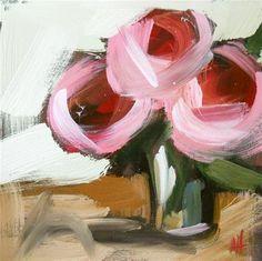"""pink peonies no. 6"" - Original Fine Art for Sale - © Angela Moulton"