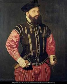 Chunky dude in a suit.  Love this.  Portrait of Hieronimus Koler 1528 - 1573.  Slashed doublet would be interesting to make