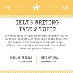 ieltsmaterial com ielts writing task topic and band sample  com ielts writing task 2 discursive essay topic health