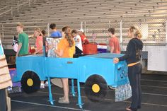 Boxcars At Relay For Life Cardboard Box Cars Pinterest