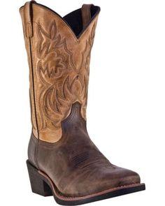 Laredo Breakout Cowboy Boots - Square Toe, Bark