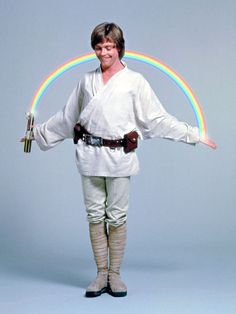 Luke Skywalker photoshopped into all sorts of silly pictures. #StarWars