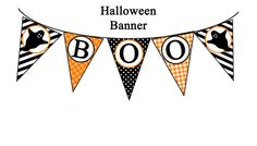 Instant Download  Halloween Boo Banner Printable by ThatPartyChick, $8.00