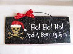Christmas Decor Sign with glitter Ho Ho Ho