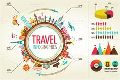 Travel infographics with more then 70 data icons and elements. --- The Pack Includes: - 1 Travel infographics (Illustrator Cs, Eps - 25 Building from the Data Icon, Web Design, Creative Design, Creative Ideas, Illustrator Cs, Information Graphics, Creative Sketches, Illustrations, Data Visualization