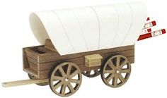 Covered Wagon Pencil Holder. Assemble then keep on your desk to store your pencils. More on MakingFriends.com