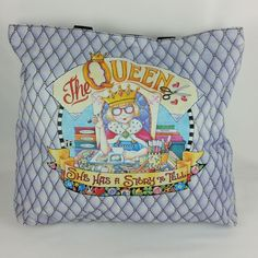 0cb6f199816f Mary Engelbreit The Queen Tote Bag Purse She Has a Story to Tell Purple   MaryEngelbreit