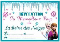 Cartons d'invitations imprimables gratuits pour anniversaire reine des neiges