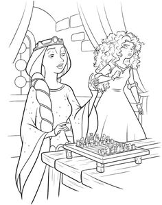 Brave Movie Coloring Page