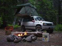 Camping off the Barlow Rd trailer in your Compact Camping Concepts rooftop tent