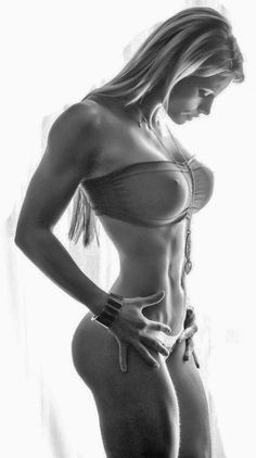 Fitnessmodel mit unglaublicher Form