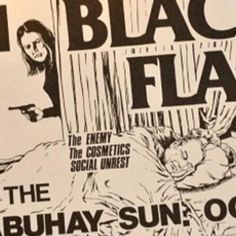 Voici à peu près l'intégralité des flyers de Black Flag dessinés par Raymond Pettibon