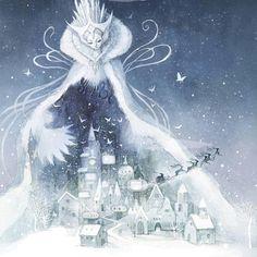 "140 Likes, 4 Comments - çizgili masallar (@cizgilimasallar) on Instagram: ""The Snow Queen by Kim Minji @kim.minji.ki204 #illustration #childrensbookillustration #snowqueen…"""