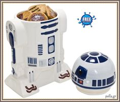 Official Star Wars Droid Ceramic Cookie Jar - Disney Kitchen Boxed Gift for sale online Star Wars Cookies, Kitchen Box, Kitchen Items, Kitchen Dining, Kitchen Products, Kitchen Decor, Ceramic Cookie Jar, Cookie Jars, Cocina Star Wars
