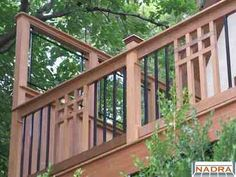 Mission Style deck | Wood - Mission Detail rails w/ Deckorator Estates balusters www ...