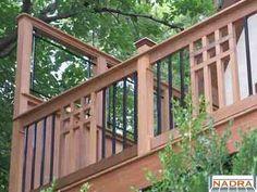Mission Style deck | Wood - Mission Detail rails w/ Deckorator Estates balusters www ...