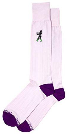 Zombie Embroidery Detail Fun Pima Cotton Mens Dress Socks Full Calf @ niftywarehouse.com #NiftyWarehouse #Zombie #Horror #Zombies #Halloween