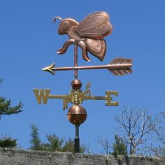 Copper Bee Weathervane : Weathervane Factory