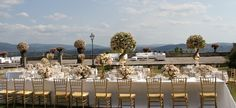 Beautiful Table setting in the garden of Villa di Maiano with the amazing view of Florence. All Rights Reserved GUIDI LENCI www.guidilenci.com