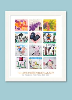 How smart is this gallery style collage poster of your child's artwork from Simply Create Kids?