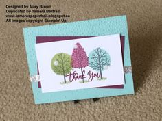 Handmade Christmas Cards; Totally Trees; Thoughtful Branches; 2016 Holiday Catalogue; Stampin' Up!; Tamara's Paper Trail