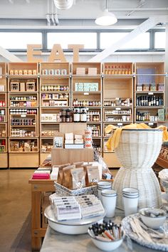 coffee shop with canned goods and home decor for sale at healdsburg shed / sfgirlbybay