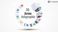3D progress arrow infographic prezi presentation template