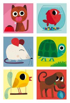 Animaux+familiers   familiar animals illustration