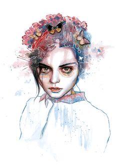 Model:Darya Dogusheva. Used photo ref.