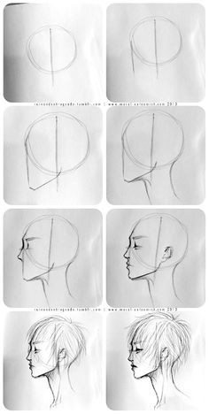Easy face drawing tutorial with construction lines by AlicjaNai Art Drawings Sketches Simple, Pencil Art Drawings, How To Draw Sketches, How Draw, How To Sketch, Eye Drawings, Realistic Drawings, Drawing For Beginners, Drawing Tips