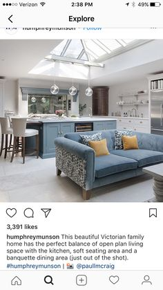 Kitchen Lighting Layout Family Rooms Ideas For 2019 Open Plan Kitchen Living Room, Kitchen Family Rooms, Open Plan Living, Interior Design Kitchen, Interior Design Living Room, Kitchen Lighting Layout, Kitchen Diner Extension, Interior Exterior, Home And Living