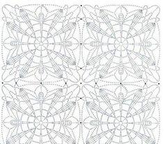 Квадрат крючком Crochét motif