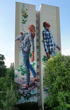 We already talked last year about the talented Australian street artistFintan Magee, based in Brisbane (The street art of Fintan Magee). I propose you today a