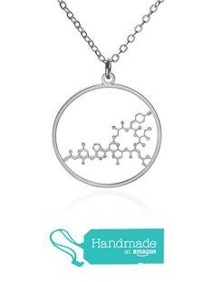Silver Pendant Necklace, Silver Jewelry, Molecule Necklace, Dog Tag Necklace, Handmade, Hand Made, Silver Jewellery, Handarbeit