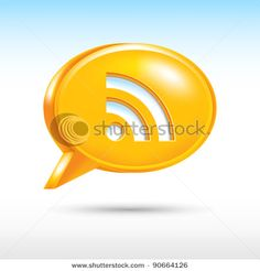 Look more my images http://www.shutterstock.com/gallery-498844.html — 3D web button icon with RSS sign. Orange speech bubble shape with drop gray shadow on white background. Vector illustration created in the technique of wire mesh and saved eps 8 — #Royalty #free #stock #photo #illustration for $0.28 per download http://submit.shutterstock.com/?ref=498844