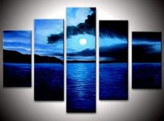 Rising Moon frem Sea at Night Abstract Wall Canvas Art Sets Painting for Home Decoration 100% Hand Painted Oil Painting Modern Art Large Canvas Wall Art Free Shipping 5 Piece Canvas Art Unstretch and No Frame Canvasart http://www.amazon.com/dp/B009QYVOWO/ref=cm_sw_r_pi_dp_eZ-Xvb14TV6G7