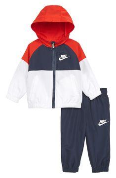 Nike Hooded Windbreaker Jacket & Pants Set available at #Nordstrom