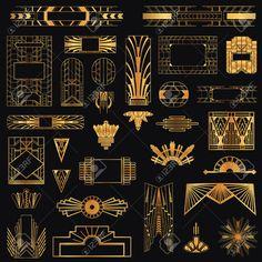 Art Deco Vintage Rahmen Und Design-Elemente Lizenzfrei Nutzbare Vektorgrafiken, Clip Arts, Illustrationen. Image 27304558.