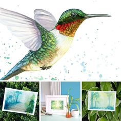 New prints in the shop! Get your forest and hummingbird fix.