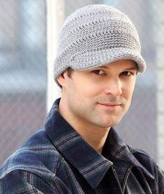 Streetwise Brim Hat Free Crochet Pattern from Red Heart Yarns