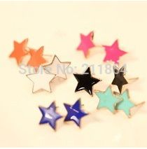 E731 Hot Sale New Style nightclub exaggerated candy colored star pentagram earrings For Women Jewelry Accessories Wholesales