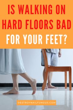 Are your feet killing you? Your hard floors may be the culprit. Find out the common foot problems that are aggravated by walking on hard floors. Plus tips on how to avoid aches and treat your walking pains.  #feetcare #feethealth #footproblems #footpainremedies #happyfeet