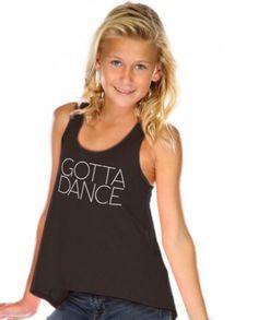 Gotta Dance-Girls Hi Lo Tank