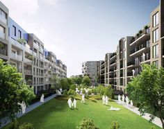 Alison Brooks Architects _ South Kilburn Estate Regeneration _ Rendering _ Courtyard