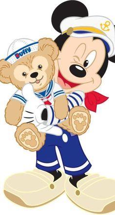 Minnie Mickey│Mouse - - --I love Duffy! Walt Disney, Disney Magic, Disney Art, Disney Dream, Disney Cruise, Minnie Mouse, Mickey Mouse And Friends, Retro Disney, Cute Disney