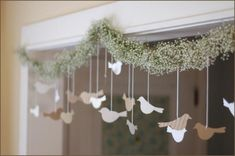 Cute garland.  Could be done with birds AND hearts.