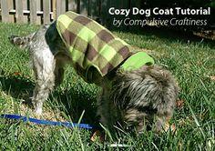 fleece dog coat pattern & tutorial