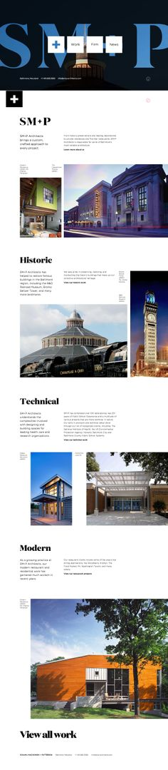 SM+P Architects \\ Nice website with cool grid. http://www.smp-architects.com #interface #web #ui
